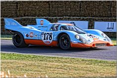 """""""Gulf Racing"""" 1970 Gulf Porsche 917K Goodwood Festival of Speed 2009"""