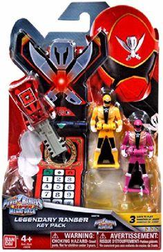 Power Rangers Super Megaforce - Power Rangers Super Megaforce Legendary Ranger Key Pack B, Metallic Red/Yellow with Pink