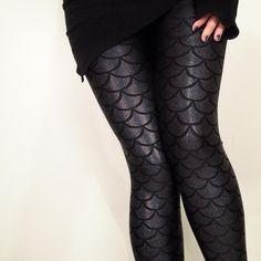 Evil Mermaid Leggings $65 via Gold Stitches