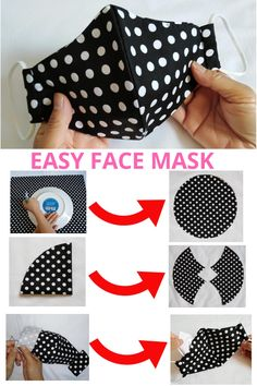 Sewing Hacks, Sewing Tutorials, Sewing Crafts, Sewing Projects, Sewing Patterns, Easy Face Masks, Diy Face Mask, Diy Mask, Sewing Techniques