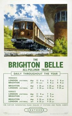 Image result for THE Brighton Belle POSTER
