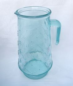 Aqua Blue Water/Ice Tea Pitcher- Made in Italy. $35.00, via Etsy.