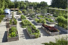 The epitome of a well designed kitchen garden. Perfect raised beds by Scott Shrader
