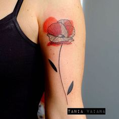 Thanks Serena! #tattoo #taniavaiana #tttism #ContemporaryTattooing #FORMink #inkstinct_tattoo_app #contemporary #tattooartist #colors #flash #poppy #flowerpower #flower #graphic #illustration #newvaguetattoo #expotattooroma2016 #romatattooexpo #italy #roma #tattooconvention #keepcalm