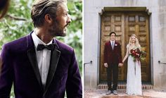 I love the idea of adding some color into the grooms jacket. Play around with color, I guarantee you won't regret it!