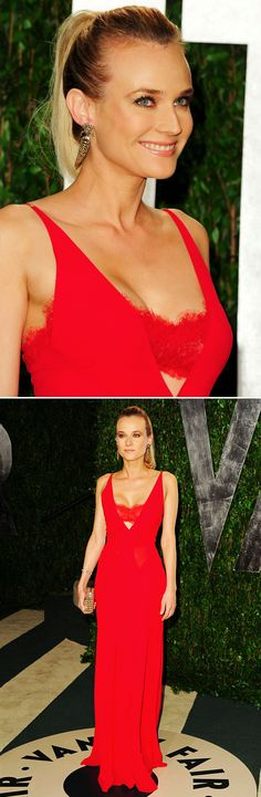 Diane Kruger in Calvin Klein at the Vanity Fair Oscar party