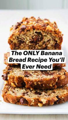 Banana Nut Bread, Banana Bread Recipes, Zucchini Bread Muffins, Zucchini Bread Recipes, Recipes For Bananas, Best Healthy Banana Bread Recipe, Healthy Breads, Banana Dessert Recipes, Dessert Sans Gluten