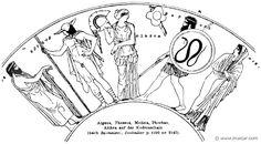 RIII.2-2419b.jpg - RIII.2-2419b: Aegeus, Theseus, Medea, Phorbas, Aethra. Wilhelm Heinrich Roscher (Göttingen, 1845- Dresden, 1923), Ausfürliches Lexikon der griechisches und römisches Mythologie, 1884.