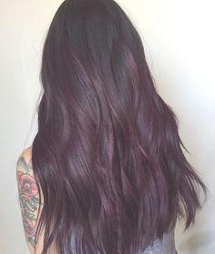 Burgundy Hair Color Ideas: Best Hairstyles for Maroon Hair (March - My Style - Silver Lavender Hair, Lavender Hair Colors, Violet Hair Colors, Hair Color Purple, Maroon Color, Burgundy Color, Dark Maroon Hair, Dark Hair, Plum Hair