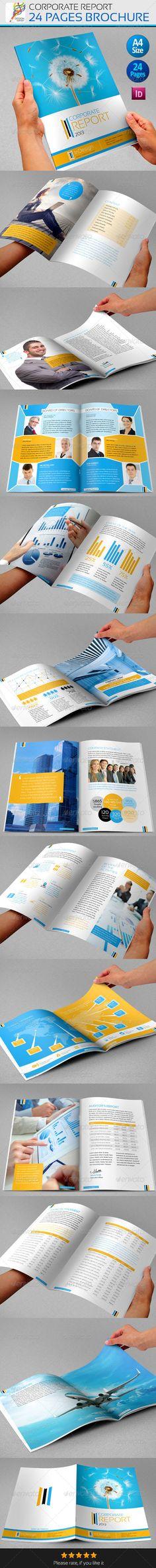 Corporate Annual Report\/ Brochure - GraphicRiver Item for Sale - free annual report templates