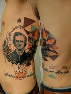 Edgar Allan Poe tattoo by Xoil