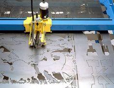 CNC plasma cutter art.
