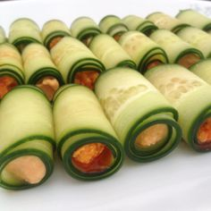 Cucumber Rolls Cucumber Rolls, Sushi, Vegetables, Ethnic Recipes, Food, Cucumber Roll Ups, Essen, Vegetable Recipes, Meals