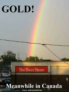 "End of the rainbow is a ""beer store""--- Don't really think so! Beer Store, Liquor Store, Perfectly Timed Photos, Haha Funny, Funny Stuff, Funny Shit, Funny Drunk, Hilarious Memes, Funny Humor"