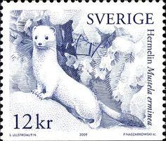 Sweden 2009 Snow-white Animals  Credit: jabiru_stamps