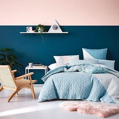 Featured here is the Mustique quilt cover from Rebecca Judd's latest collection for Adairs. Bec places a strong focus on style, quality and value for money which is why all of her designs are made from premium cotton and reversible for two looks in one! #bedlinen #quiltcover #bedroom #bedroominspo #bedroomstyling #bedroomdecor #bedroomideas #homestyling #homedecor #homeinterior #adairs #RJLxHR