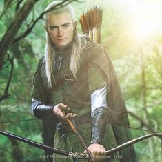 Shop LEGOLAS GREENLEAF™ with bow Square Sticker created by lordoftherings. Legolas And Thranduil, Tauriel, Blonde Hair Characters, Misty Eyes, Wood Elf, Fanart, Medieval Fantasy, Lord Of The Rings, Middle Earth