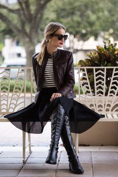 Little Blonde Book A Fashion Blog by Taylor Morgan: Quilted Leather Moto