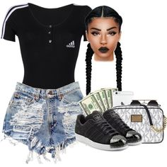 A fashion look from March 2016 featuring adidas t-shirts, adidas Originals sneakers and Michael Kors shoulder bags. Browse and shop related looks.