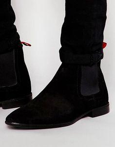 dd238c326cf ASOS Chelsea Boots in Suede - Black Black Suede Chelsea Boots
