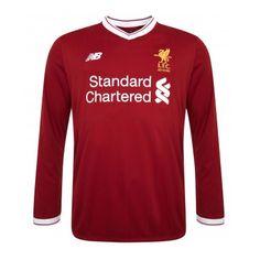 1f7fd6d99 Liverpool 2017 18 Home Long Sleeve Soccer Jersey Shirt