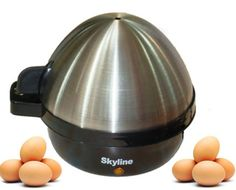 Stainless steel cover body Auto switch off Safety cut-off button , Electric Egg Boiler Share with: