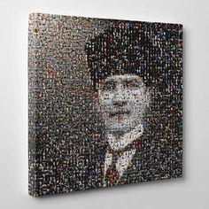 En Modern Tablolar hepsikampanyali.com da  Mozaik II Kanvas Tablo Atatürk ,