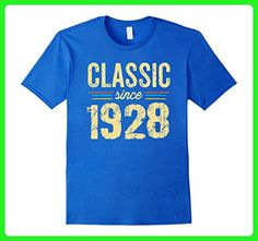 Mens Classic 1928 100 yrs old 89th birthday gifts 1928 T-Shirt Small Royal Blue - Birthday shirts (*Amazon Partner-Link)