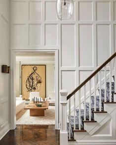 Sharon Rembaum Design (@sharonrembaumdesign) • Instagram photos and videos Custom Rugs, Bespoke Design, Entryway Decor, Entrance, Stairs, Living Room, Interior Design, House, Beautiful