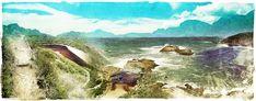 South African Landscape Prints For Sale Landscape Prints, Landscape Art, Prints For Sale, Online Art Gallery, Digital Art, Coast, African, Art Prints, Painting