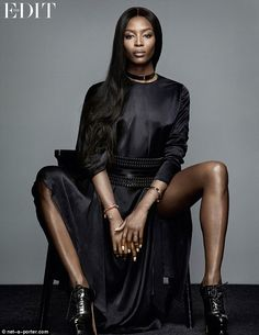 Naomi Campbell talks charity and her fashion family in The Edit Top Models, Black Models, Female Models, Women Models, Naomi Campbell, Photography Poses, Fashion Photography, Editorial Photography, Jenny Packham