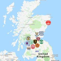 2018 Scottish Premiership Map