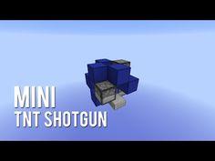 Redstone: Mini TNT Shotgun [Tutorial] - YouTube Minecraft Jokes, Minecraft Costumes, Easy Minecraft Houses, Minecraft Videos, Minecraft Blueprints, Minecraft Party, Minecraft Stuff, Minecraft Redstone Creations, Minecraft House Tutorials