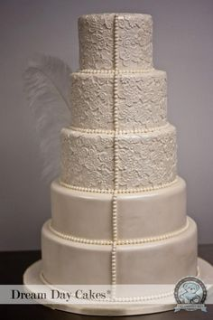 Weddbook is a content discovery engine mostly specialized on wedding concept. You can collect images, videos or articles you discovered  organize them, add your own ideas to your collections and share with other people - Ivory Lace Wedding Cake