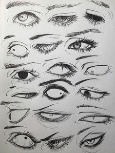 Drawings, Manga, Anime, Eyes, 18 designs to enhance your drawing - art - Drawings Manga Anime Eyes 18 designs to enhance your drawing - Anime Drawings Sketches, Anime Eyes Drawing, Manga Eyes, How To Draw Anime Eyes, Drawings Of Eyes, Owl Drawings, Pencil Drawings, Eyes Drawing Tumblr, Crying Eye Drawing