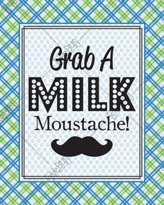 """Items similar to Mustache Bash """"Milk Mustache"""" Sign on Etsy Activity Day Girls, Activity Days, Moustache Party, Mustache, Little Man Party, Baby Shower Labels, Party Themes, Party Ideas, Diy Party"""