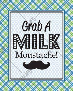 Mustache Bash Milk Mustache Sign