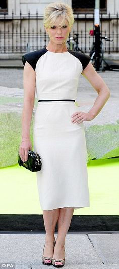 Emilia Fox in Edeline Lee's Cunard Cutout Yoke Dress at the Royal Academy.(Source: Daily Mail)
