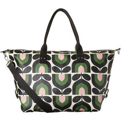 Orla Kiely Stripe Tulip Print Zip Holdall - Spring ($193) ❤ liked on Polyvore featuring bags, luggage and multi