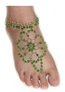 Collection of Indian style foot jewelry tutorials.