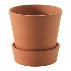 IKEA - INGEFÄRA, $5.99  Plant pot with saucer, in/outdoor/terracotta, 15 cm (interior), The porous terracotta holds excess water, so the plant can draw out moisture when needed.It's possible to plant directly in the pot because it has a drain hole in the bottom and a saucer to collect excess water.