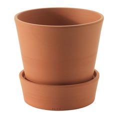 INGEFÄRA Ruukku ja aluslautanen IKEA Huokoinen punasavi imee vettä itseensä. Kasvi voi tarvittaessa hyödyntää ruukkuun varastoituneen veden.