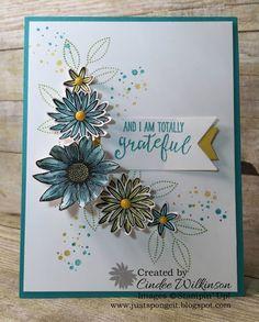 Just Sponge It: I am Totally Grateful, Grateful Bunch Bundle, Timeless Textures stamp set, Clear Wink of Stella, Aqua Painters, Banner Punch, Banners Framelits