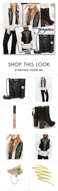 """Yoins 30"" by pokadoll ❤ liked on Polyvore featuring Chanel, Aquazzura, Arco, Stila, MustHave, fall2015 and yoins"