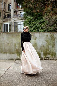 Skirt: Alice + Olivia (also here). Turtleneck: old (similar). Bag: M2M. Shawl: Otte. Sunglasses:...