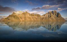 Vestrahorn, 5k, mountains, reflection, lake, Iceland