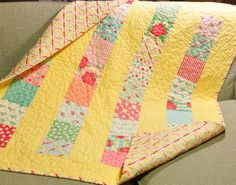 Sweet by Moda  Baby Crib Quilt Girl Blanket 30's Inspired