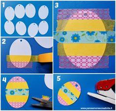 uova di pasqua con washi tape-tutorial