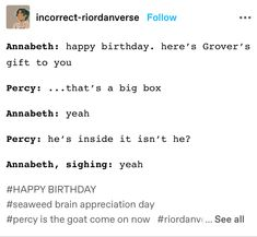 Percy Jackson Head Canon, Percy Jackson Quotes, Percy Jackson Fan Art, Percy Jackson Fandom, Magnus Chase, Solangelo, Percabeth, Book Memes, Book Quotes
