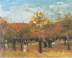 Van Gogh - Spaziergänger im Bois de Boulogne, 1886